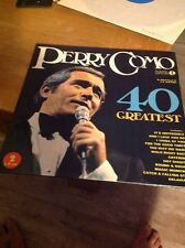 PERRY COMO 40 GREATEST HITS 1975 DOUBLE VINYL LP EX/EX