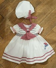 SALE couche tot smocked sailors dress 9-12 months BNWT spanish / romany