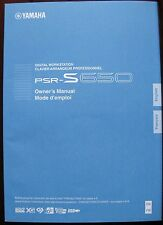Yamaha PSR-S650 Keyboard Workstation Original Owner's Manual Book, LN Condition