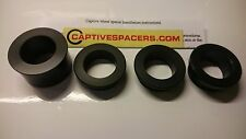 Kawasaki ZX6R ZX6 2003- 2004 Captive wheel spacers. Full wheel set. Black