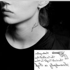 Supermodel Stencil Design Sexy Body Art Gun Letters Temporary Tattoo Sticker 1pc