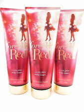 Bath Body Works 3 Forever Red Luxury Body Cream 8oz Shea Aloe & Cocoa Butter