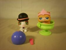 "Littlest Pet Shop LPS 2005 ""Totally Talented""  153 Persian cat 154 Terrier dog"