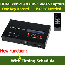 Live Stream Game Video Capture HDMI YPbPr Compsite Recorder For Xbox 360 PS3 TV