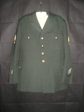 US Army Uniform Size 46L Mens With Patches Class A Dress Green Jacket Coat
