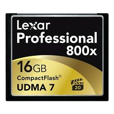 Lexar Professional 16GB 800x 120MBs High Speed UDMA Compact Flash CF Memory Card