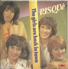"RISQUE' - The girls are back in town VINYL 7"" 45 ITALY 1985 NEAR MINT CONDITION"