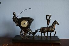 Hanson Cab Horse Carriage United Sessions Clock Lamp Vintage 1960s