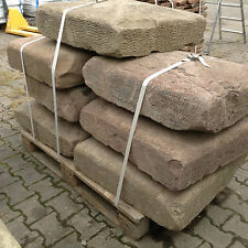 Antike Buntsandstein Pfeiler Quader Abdeckplatten Mauer Sandsteine Natursteine