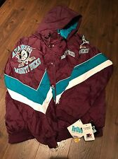 Vintage Starter Anaheim Mighty Ducks NHL Jacket Jersey Medium XL 42