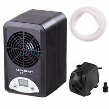 Aquarium Thermostat Chiller Heater Adjustable 108W Fish Tank+160GPH Water Pump