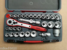 "TENG TOOLS SOCKET SET 1/2"" Dr  30 Pc T1230 METRIC 10-32mm IMP 3/8 - 1-1/4"" T1230"