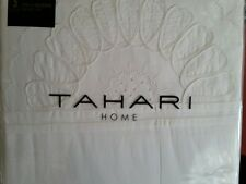 NEW TAHARI F/ QUEEN DUVET SET  WHITE HAND EMBROIDERED MEDALLIONS 100% COTTON