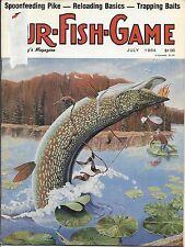 Fur-Fish-Game magazine July 1984 cover by George Luther Schelling