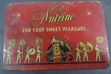Signed tin Box NUTRINE FOR YOUR SWEET PLEAsure Adv Litho Elephant PRINT India