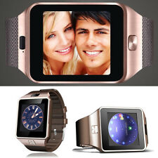 Bluetooth Smart Watch phone GSM SIM Card For Android Iphone HTC Golden