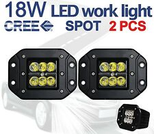 "2x 5"" Cree 18W Pencil Spot LED Work Light offroad Driving Lamp Truck Flush Mount"