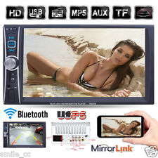 7 Double 2 Din Touchscreen In dash Car Stereo Radio Mp3 CD DVD Player FM Aux NEW