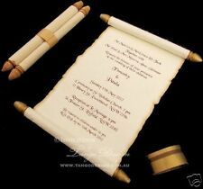 Scroll Wedding Invitation 1SAMPLE elder card invite rustic medieval birthday