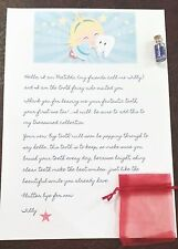 Tooth Fairy Letter with fairy dust and gift bag...bring the magic & make smiles