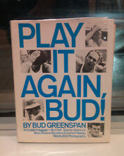 SIGNED book by sportscaster Bud Greenspan * Play It Again, Bud! (1973) sports