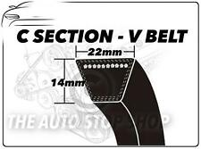 C Section V Belt C166 - Length 4216 mm VEE Auxiliary Drive Fan Belt 22mm x 14mm