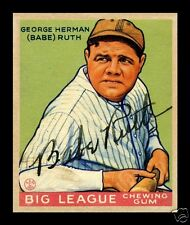 LOT of 25 Reprint 1933 Goudey BABE RUTH #181 HOF with AUTOGRAPH REPRINT