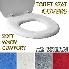 MEDIPAQ™ Super Warm Fleece Toilet Seat Cover - Easy Fit Washable Cosy Cold Loo