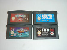LOT DE 4 JEUX GAME BOY-ADVANCE (LOT-1)