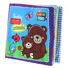Baby Infant Toddler Soft Cloth Book Early Reading Educational Toy Teether