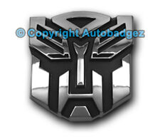 "1 - NEW CHROME Transformers AUTOBOT auto badge emblem (3"" CHROME)"