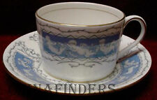 COALPORT china REVELRY-BLUE pattern Cup and Saucer