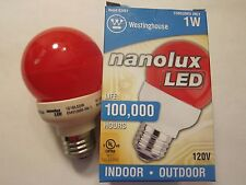 NEW Westinghouse Nanolux LED Light Bulb Red 03451 Indoor Outdoor More Listed