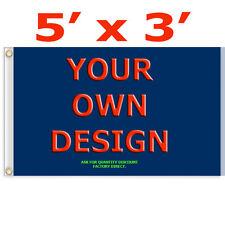 CUSTOM 3'x5' Full Color Single Sided Custom Flag Factory Direct US Seller