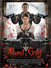 Affiche 40x60cm HANSEL & GRETEL : WITCH HUNTERS (2013) Renner, Arterton TBE