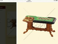 DOLLHOUSE MINIATURE - Grand Casino Roulette Table - BESPAQ 1:12 Scale WOW!