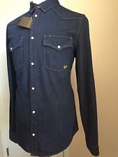 New $945 Gucci Men's Jeans Shirt Dark Blue L US ( 54 Eur ) 2015 Italy