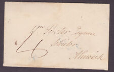 1836 Belford Northumberland Circular undated backstamp to Alnwick 4d rate
