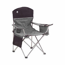 Coleman Oversized Black Camping Chairs + Cooler/Cup Holder, 2-Pack | 2000020256
