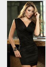 Explosion models sexy black dress sexy package hip nightclub dress queen M AZ53