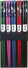 Wholesale Lot 50 Pair Bamboo Chopsticks 5 Color Usagi Bunny S-3644x10