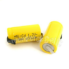 1 x AA Ni-Cad Cd 1.2V 2/3AA 400mAh rechargeable battery