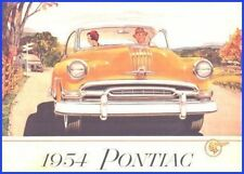 1954 Pontiac Original Prestige Color Brochure Star Chief Silver Streak Chieftain