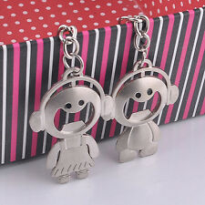 2Pcs Couple Key Chain Ring Boy&Girl Keychains Couples Keyring Set Bottle Openers