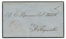 Rare 1858 Mourning Cover sent to Montreal Canada