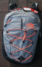 THE NORTH FACE WOMENS BOREALIS BACKPACK- DAYPACK- # CHK3- DAPPLE GREY H- CORAL