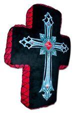 Spiral - Kissen in Kreuzform.  Motiv: Fallen Angel Cross Gothic