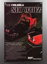 VINTAGE 1972 FORMULA IV SKI WHIZ THE FORMULA ADVERT IMAGE BANNER