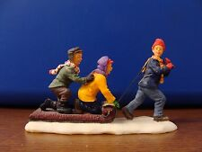 "RETIRED! Lemax Village Collection ""The Toboggan Tug "" Figurine Item #02418"