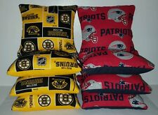 SET OF 8 PATRIOTS/BRUINS CORNHOLE BEAN BAGS ***FREE SHIPPING***
